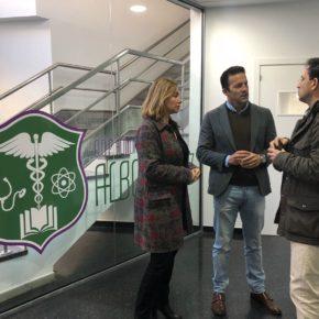 Carlos Pérez (Cs) visita el Instituto de Formación Profesional Sanitaria de la Fundación ALBOR Cádiz